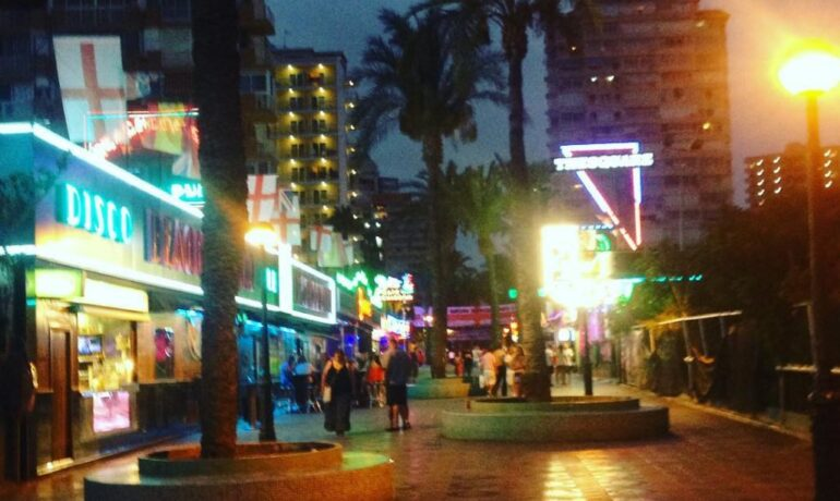 Popular bars in Benidorm, Spain