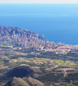 Views from Puig Campana Benidorm